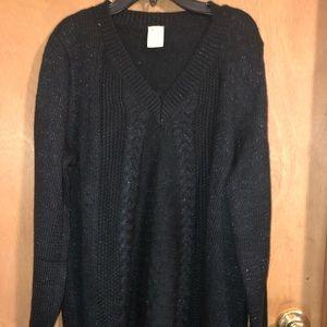 Faded glory black sparkle sweater 1x 16w